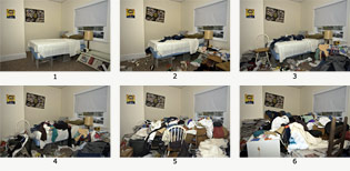Clutter Image Rating Scale - Bedroom